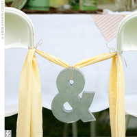 Reception, Flowers & Decor, yellow, blue, Tables & Seating, Chairs, Ribbon, Inspiration board, Sign