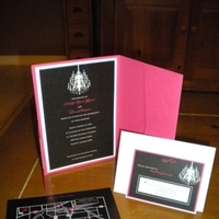 Ceremony, Flowers & Decor, Stationery, white, pink, black, Invitations
