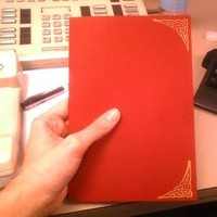 Stationery, red, gold, Invitations
