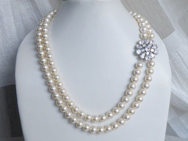 Jewelry, Bridesmaids, Bridesmaids Dresses, Fashion, white, ivory, silver, Necklaces, Wedding, Bridal, Necklace, Pearl, Rhinestones, Cz, Cubic, Zirconia