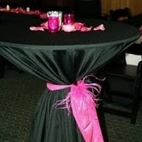 Reception, Flowers & Decor, pink, black