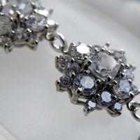 Jewelry, Bridesmaids, Bridesmaids Dresses, Fashion, white, ivory, silver, Bracelets, Wedding, Bridal, Bracelet, Rhinestones, Cz, Cubic, Zirconia