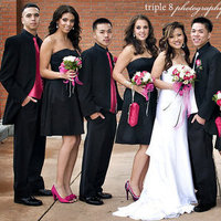Reception, Flowers & Decor, Bridesmaids, Bridesmaids Dresses, Wedding Dresses, Fashion, white, pink, black, dress