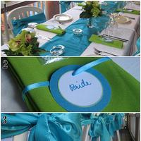 Reception, Flowers & Decor, blue, green
