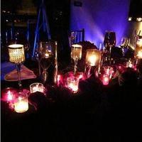 Reception, Flowers & Decor, purple, black, Table, Sweetheart, Inspiration board