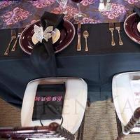 Reception, Flowers & Decor, white, purple, black, Table, Sweetheart, Inspiration board
