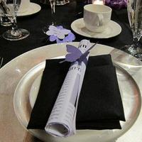 Reception, Flowers & Decor, white, purple, black, Table, Inspiration board, Setting