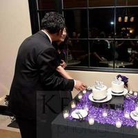 Reception, Flowers & Decor, Cakes, white, purple, black, cake, Cutting, Inspiration board