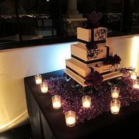 Reception, Flowers & Decor, Cakes, white, purple, black, cake, Inspiration board