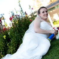 Beauty, Flowers & Decor, Wedding Dresses, Shoes, Photography, Fashion, white, red, blue, dress, Flowers, Hair, Hollis, Cari, Flower Wedding Dresses