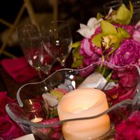 Reception, Flowers & Decor, pink, green, brown