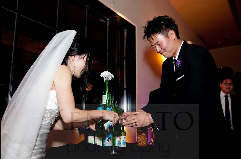 Reception, Flowers & Decor, white, purple, black, Inspiration board, Tower, Soju