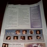 Reception, Flowers & Decor, white, purple, black, Program, Inspiration board, Newspaper
