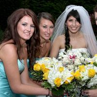 Flowers & Decor, Bridesmaids, Bridesmaids Dresses, Wedding Dresses, Fashion, white, yellow, pink, blue, dress, Bridesmaid Bouquets, Flowers, Flower Wedding Dresses