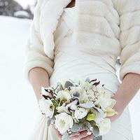 Flowers & Decor, white, silver, Bride Bouquets, Winter, Flowers, Bouquet