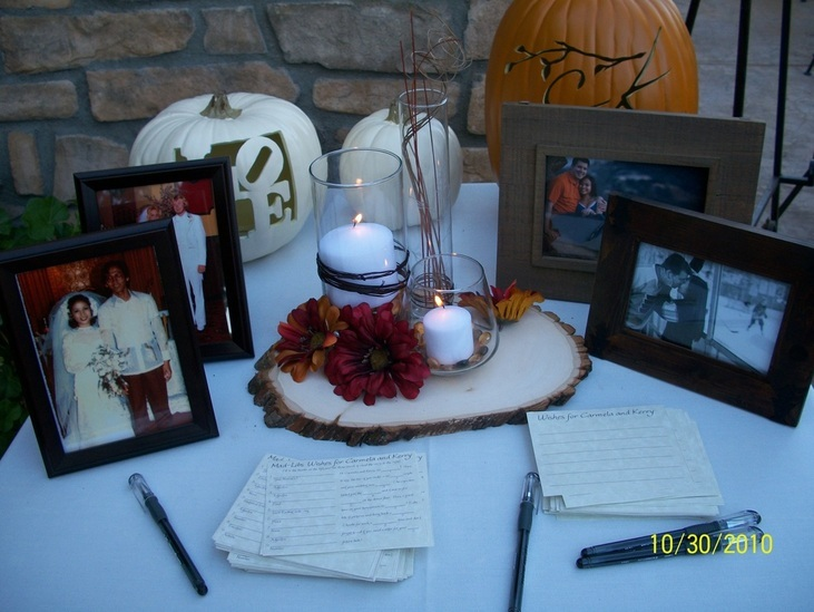 Wish cards, Guest book table