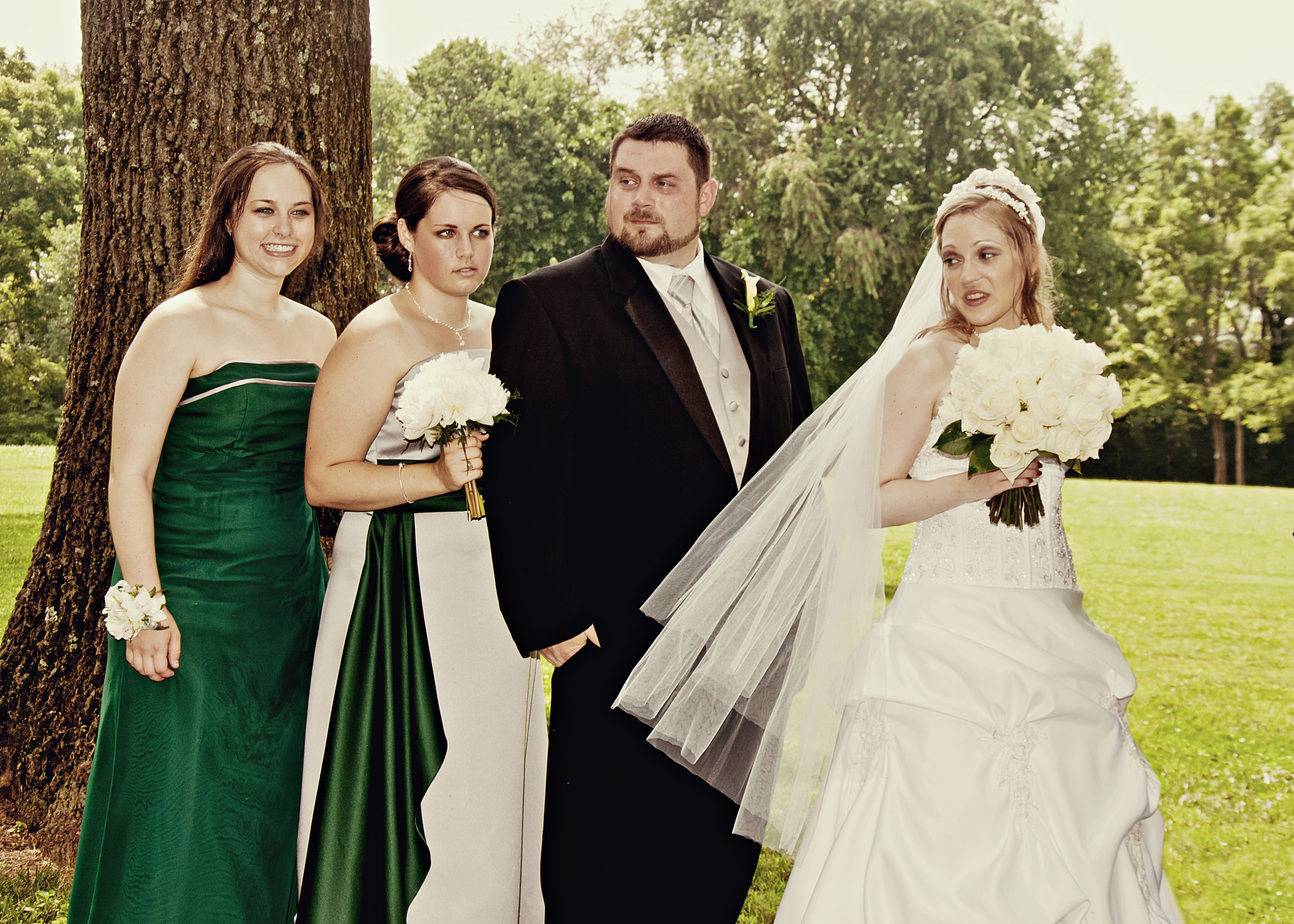 Ceremony, Flowers & Decor, Wedding Dresses, Veils, Fashion, green, silver, dress, Ceremony Flowers, Bride Bouquets, Bride, Flowers, Veil, Flower Wedding Dresses