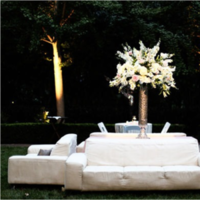 Reception, Flowers & Decor, white, blue, silver, Lounge
