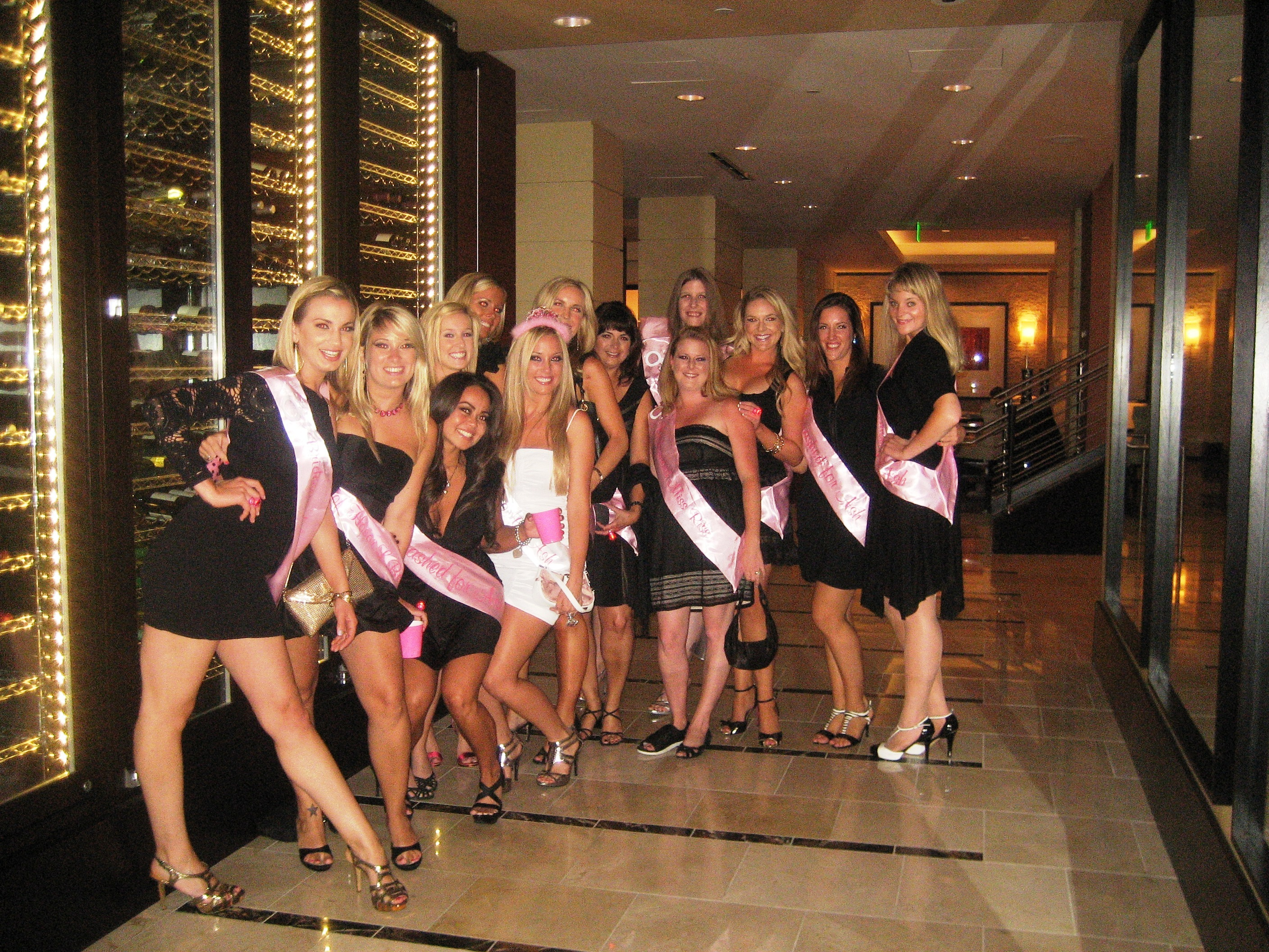 pink, black, Party, Bridesmaid, And, Bachelorette, Sashes