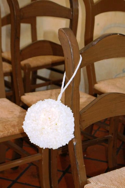Flowers & Decor, white, Flower, Pomander, Aisle, Decoration, Silk