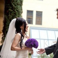 Ceremony, Reception, Flowers & Decor, white, purple, black