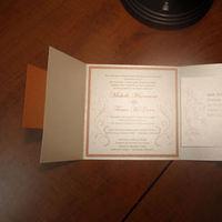 Stationery, orange, purple, Invitations