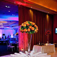 Reception, Flowers & Decor, orange, purple