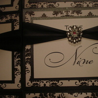 Reception, Flowers & Decor, white, pink, black, Table, Numbers