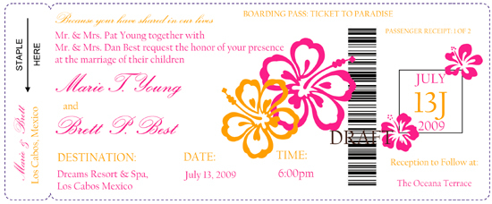 Stationery, orange, pink, invitation, Invitations
