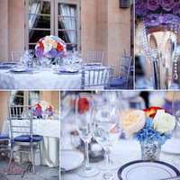 Inspiration, Reception, Flowers & Decor, purple, green, black, silver, Candles, Romantic, Board, Hanging, Love, Crystals, Ambiance