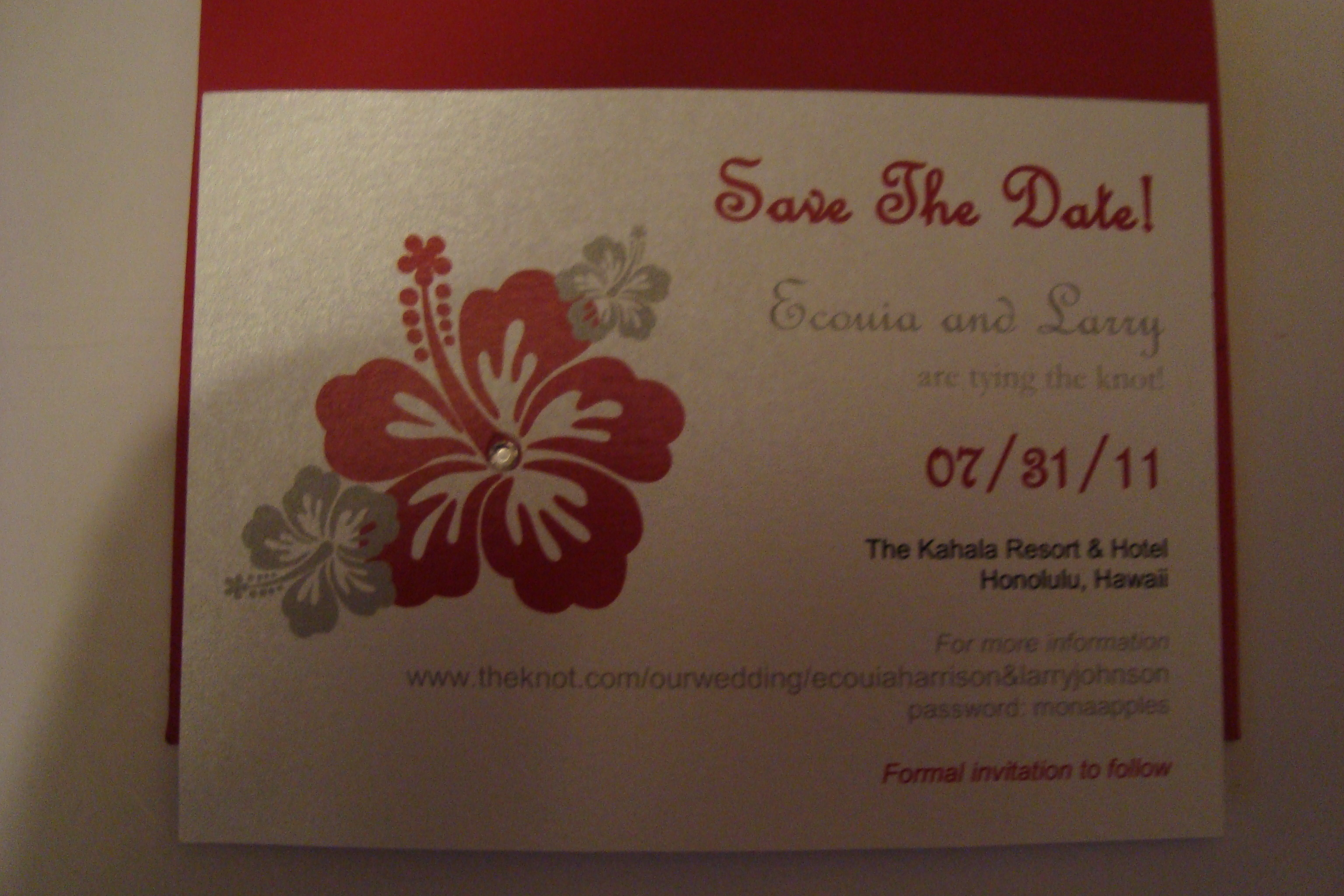 Stationery, white, red, silver, Invitations, The, Save, Date