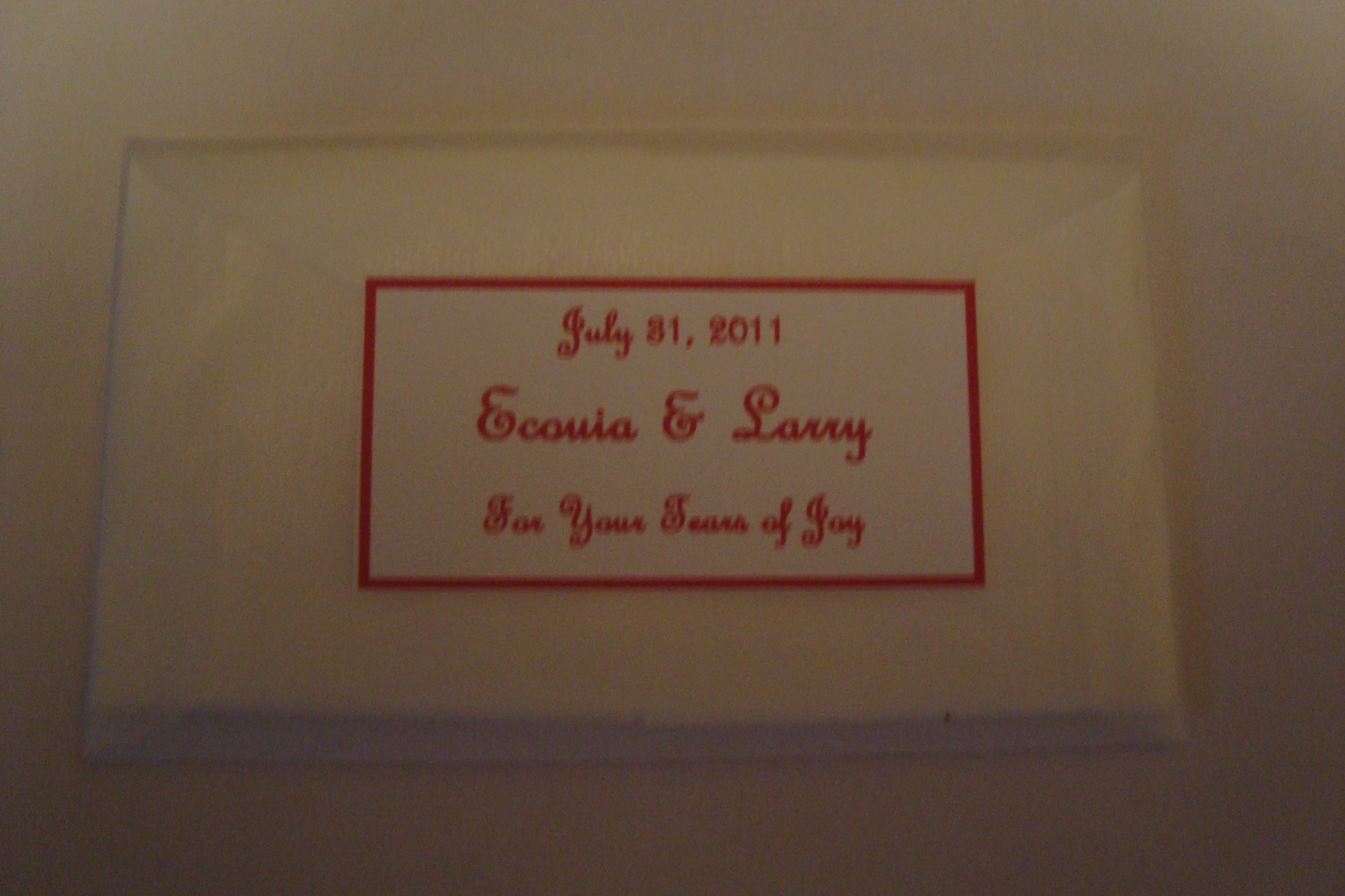 Ceremony, Flowers & Decor, Favors & Gifts, red, Favors, Tears, Joy, Packet, Og