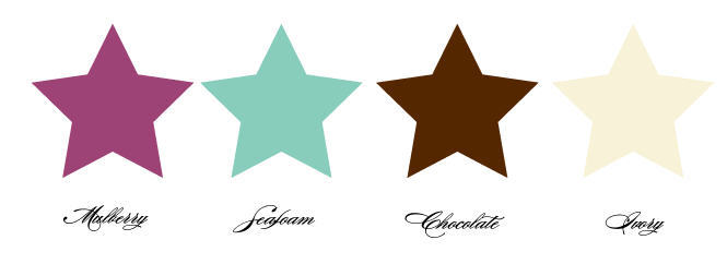 ivory, Chocolate, Color, Palette, Mulberry, Seafoam