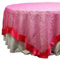 Reception, Flowers & Decor, pink, gold, Fuschia, Overlay, Embroidered