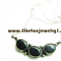 Jewelry, blue, black, silver, Necklaces, Prayer, Necklace, Bead, Turquoise, Large, Beaded, Tibetan, Mala