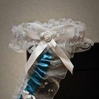 Reception, Flowers & Decor, Wedding Dresses, Fashion, white, blue, dress, Garter, San, Jose, Sharks