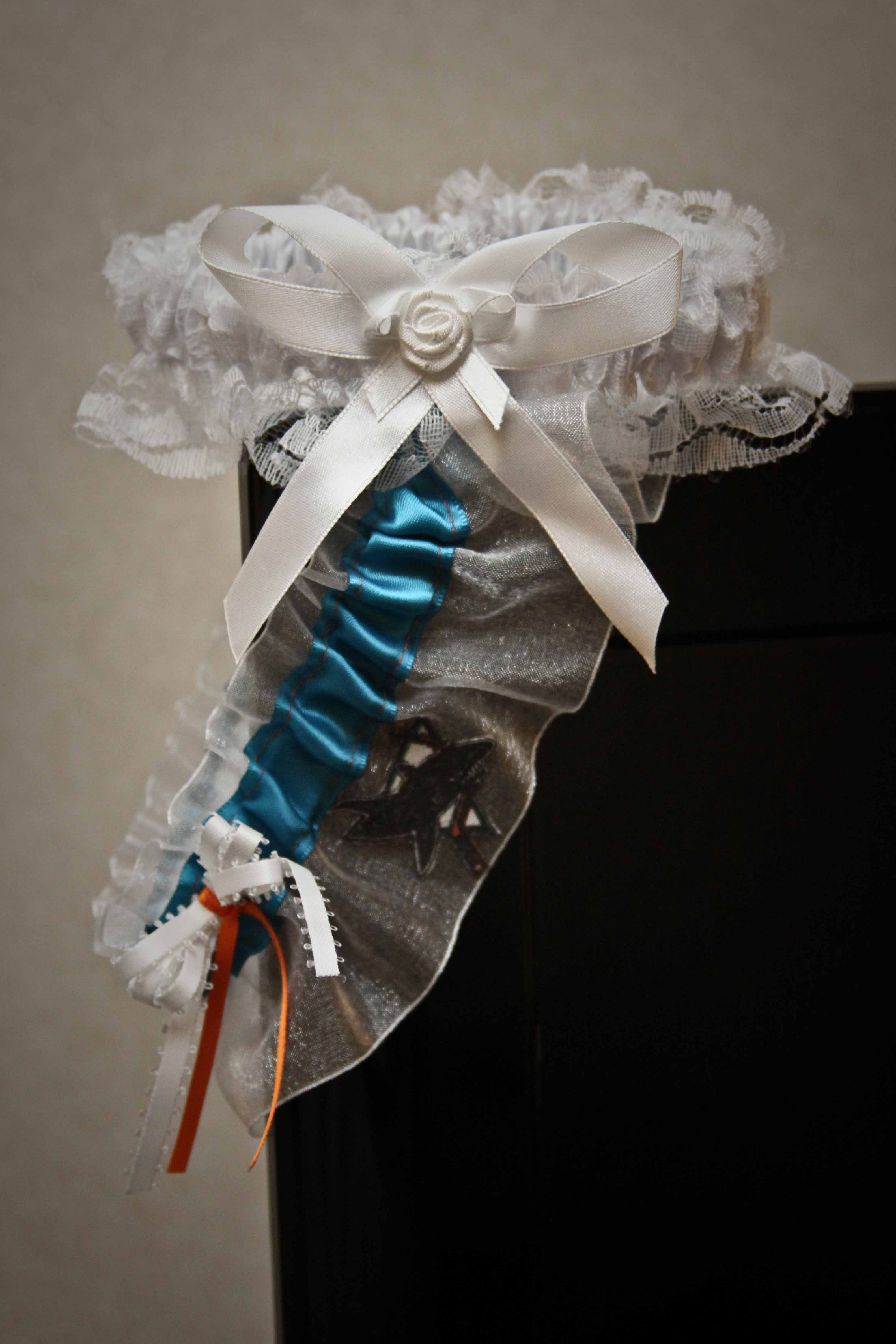Reception, Flowers & Decor, Wedding Dresses, Fashion, white, blue, dress, Garter, San, Jose, Sharks