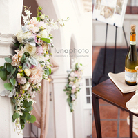 Ceremony, Reception, Flowers & Decor, Cakes, white, gold, cake, Ceremony Flowers, Flowers
