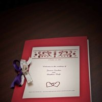 Ceremony, Flowers & Decor, red, purple, silver, Program