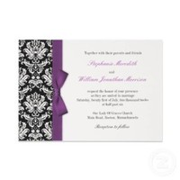 Stationery, purple, black, Invitations, Inspiration board