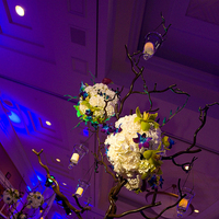 Reception, Flowers & Decor, blue, green, Centerpieces, Flowers, Centerpiece