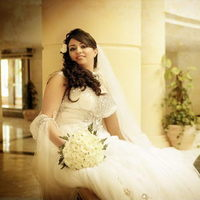 Beauty, Reception, Flowers & Decor, Jewelry, Wedding Dresses, Fashion, white, yellow, green, gold, dress, Makeup, Hair