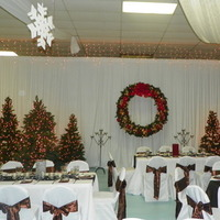 Reception, Flowers & Decor, Decor, red, green, brown, gold, Flowers, Christmas