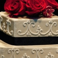 Cakes, white, red, black, cake