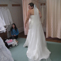Wedding Dresses, Veils, Fashion, ivory, dress, Veil, Chapel, Mori, Lee, Taffeta, Ruching, Strap, taffeta wedding dresses