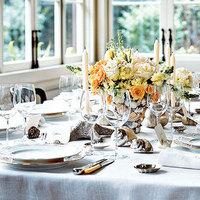 Reception, Flowers & Decor, white, orange, Flowers