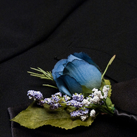 Flowers & Decor, purple, blue, black, Boutonnieres, Flowers, Boutonniere