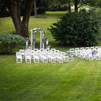 Ceremony, Flowers & Decor, white, Outside ceremony