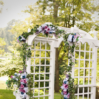 Ceremony, Flowers & Decor, white, pink, purple, blue, black, Ceremony Flowers, Flowers, Ivy