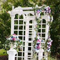 Ceremony, Flowers & Decor, white, pink, purple, blue, black, Ceremony Flowers, Flowers, Arch
